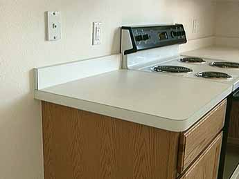 Flat Laid Countertops Can Be Fabricated In A Or On Site See Plastic Laminate Countertop And Post Formed